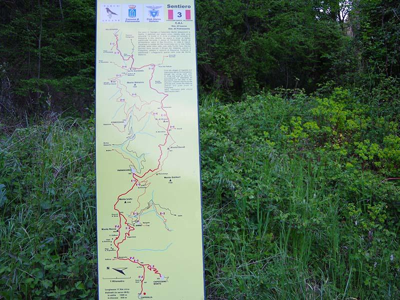 Sentieri - Sentiero 3A / 3B : da Capriglia alla Foce di Sant'Anna