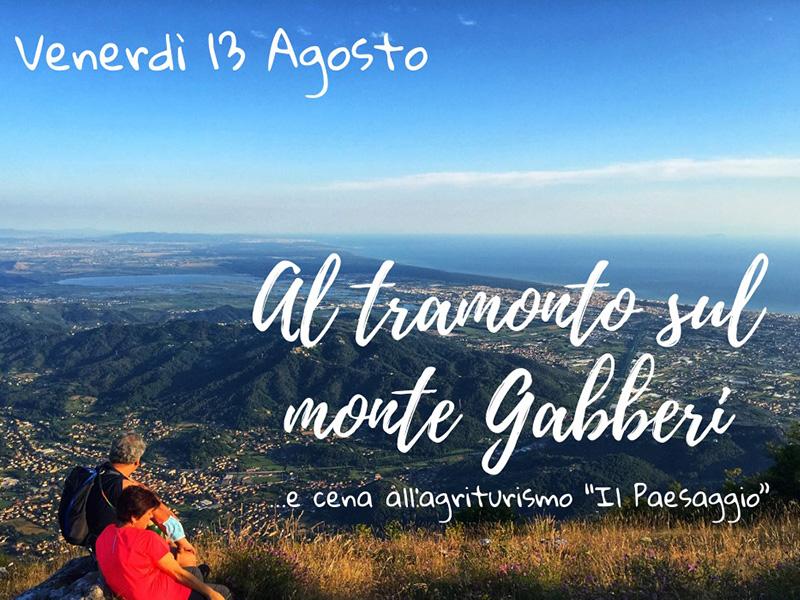 Eventi - Tramonto sul monte Gabberi
