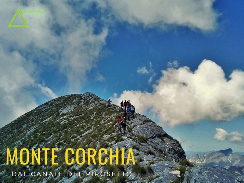 Eventi - Monte Corchia dal Canale del Pirosetto