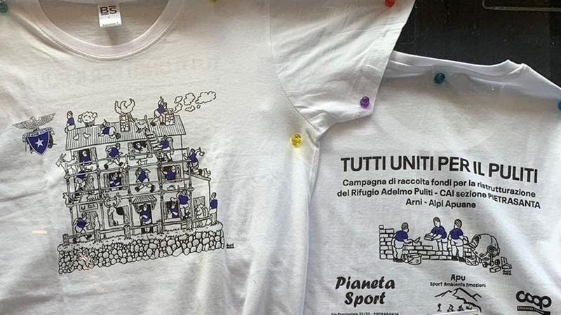 """""""Tutti uniti per il Puliti"""", una maglietta per sostenere i lavori al rifugio"""